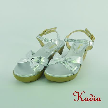 kadia.舒適羊皮交叉涼鞋(銀色)