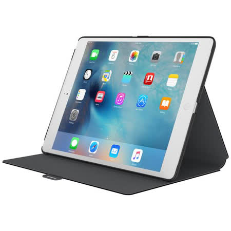 Speck StyleFolio for iPad Pro 12.9 多角度折疊保護套 - 黑色/黑灰色內裡