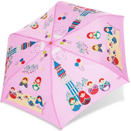 【rainstory】俄羅斯娃娃抗UV輕細口紅傘