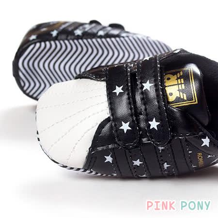【Pink Pony】星星運動休閒學步鞋_黑