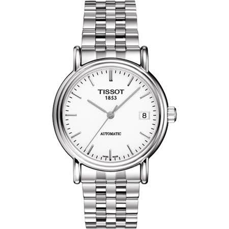 TISSOT 天梭 簡約大三針自動上鍊機械腕錶/35mm/T95148391