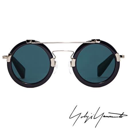 Yohji Yamamoto 山本耀司復古圓框解構太陽眼鏡-藍YY5006-914