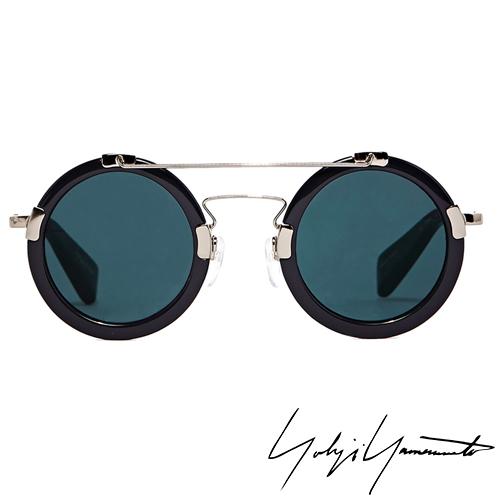 Yohji Yamamoto 山本耀司復古圓框解構太陽眼鏡~藍YY5006~914