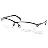 Masaki Matsushima眼鏡 簡潔日本經典設計 (銀-黑) #MF1194 C04