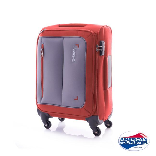 AT 美國旅行者 20吋PORTOBE遠 百 桃園 店LLO 倫敦布面行李箱(磚紅/灰)