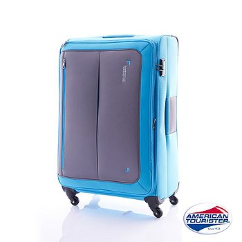 AT 美國旅行者 29吋PORTOBELLO 倫敦布面行李箱(藍/灰)