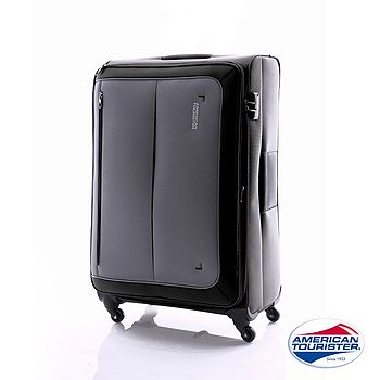 AT 美國旅行者 29吋PORTOBELLO 倫敦布面行李箱(黑/灰)