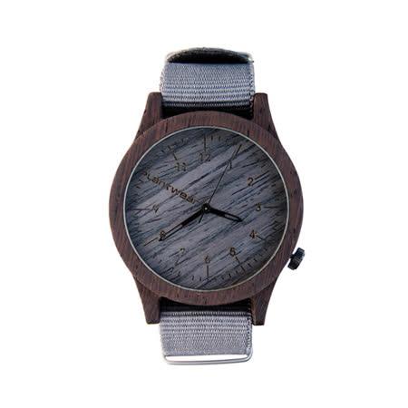 Plantwear 歐洲手工製實木手錶-Heritage series-銀石灰-黑檀木(42mm)