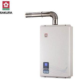 櫻花 13L強制排氣數位恆溫熱水器SH-9133 天然瓦斯(NG1)