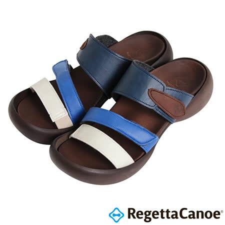 RegettaCanoe-(女款)CJEG-5226優雅樂步休閒鞋-白/藍/海軍藍