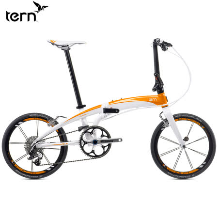 Tern Verge X10 鋁合金折疊單車 20吋 10速 白底橘標