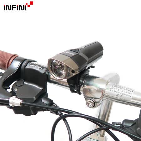 【INFINI】LAVA 500 I-264P 10W超高亮度白光LED警示燈5模式頭燈/前燈(台灣製)-鈦色