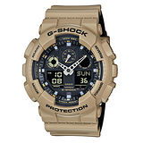 CASIO 卡西歐 G-SHOCK 酷炫雙色雙顯個性造型設計休閒運動錶/GA-100L-8A