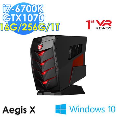 msi微星 Aegis X-026TW i7-6700K GTX1070 WIN10 電競桌機