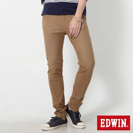 EDWIN 特大碼 迦績褲 E-F磨毛窄直筒色褲-男-灰卡其