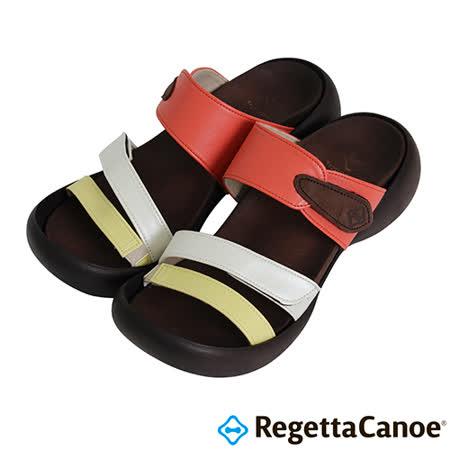 RegettaCanoe-(女款)CJEG-5224優雅樂步休閒鞋-黃/白/紅