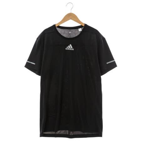 Adidas(男)圓領短T 黑S03011