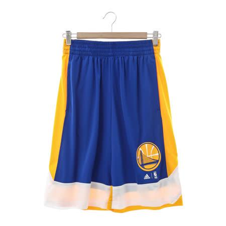 ADIDAS(男)籃球運動短褲 藍白黃AX7620