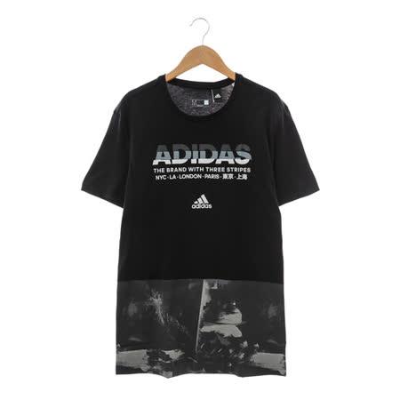 Adidas(男)圓領短T 黑AY7226