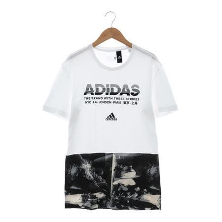 Adidas(男)短袖上衣 白AY7225