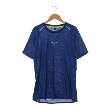 MIZUNO(男)圓領短T 藍J2TA650314