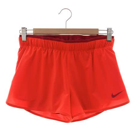 NIKE(女)緊身短褲 橘紅 777489697