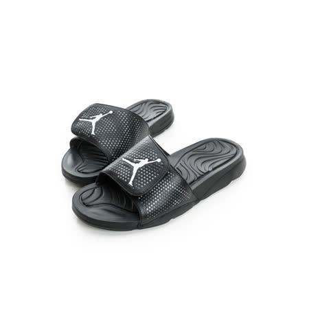 NIKE (男) JORDAN拖鞋  黑白820257010
