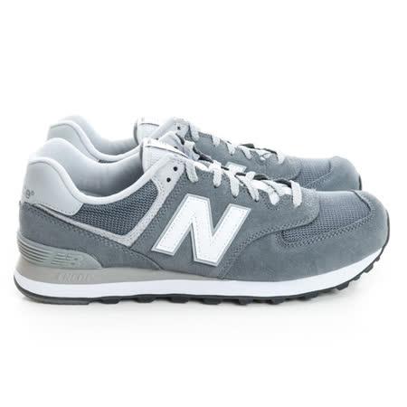 New Balance (男) 經典復古鞋 灰藍ML574VIA