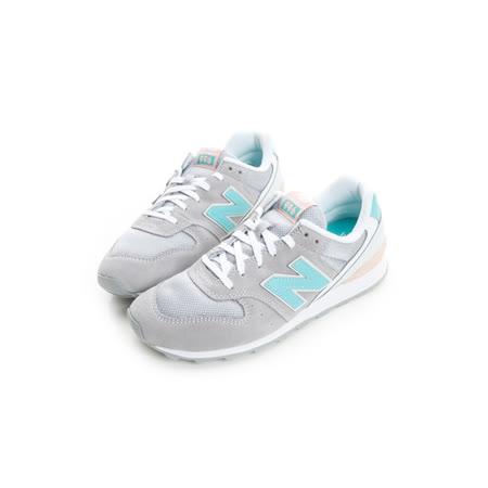 New Balance (女) 經典復古鞋 灰綠橘WR996JH