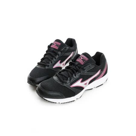 MIZUNO (女) 慢跑鞋 黑桃銀K1GA161304