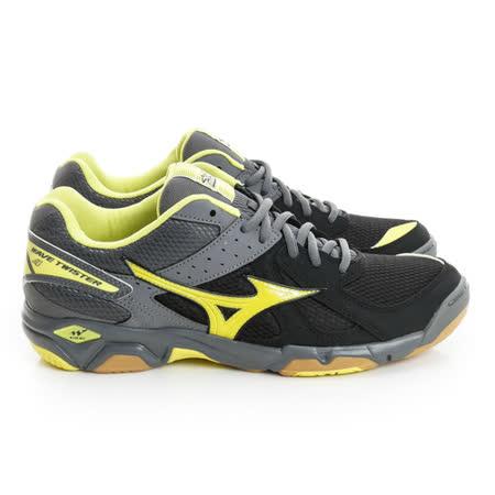 MIZUNO (男) 排羽球鞋 黑灰黃V1GA157043