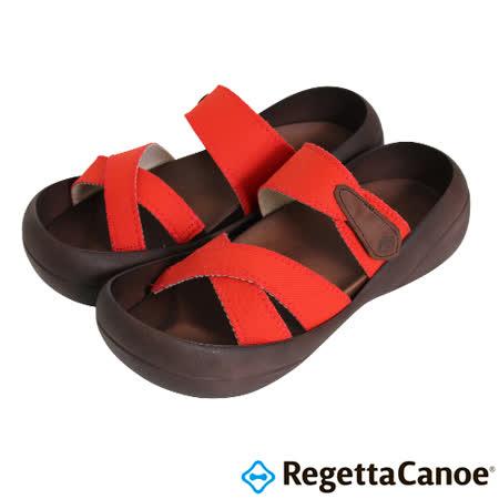 RegettaCanoe _(男款)CJBF-5140優雅樂步休閒鞋-紅色