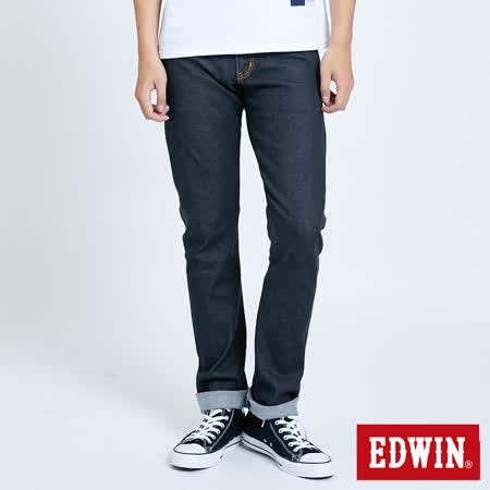 EDWIN 503 ZERO 無接縫窄直筒牛仔褲-男-黑色