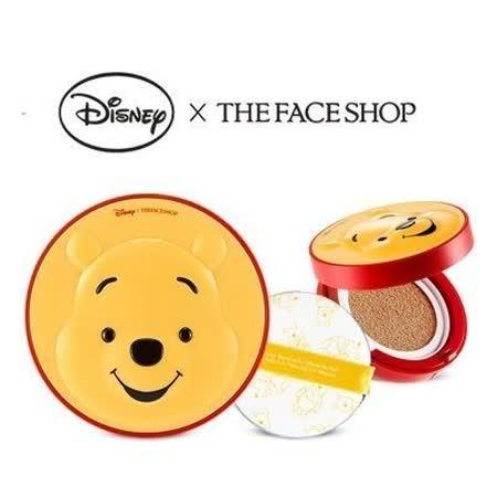 韓國 THE FACE SHOP 迪士尼聯名 CC保濕降溫感氣墊粉餅(維尼) 氣墊粉餅