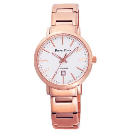 Roven Dino羅梵迪諾 色彩抉擇時尚日期腕錶-RD676RG-396W