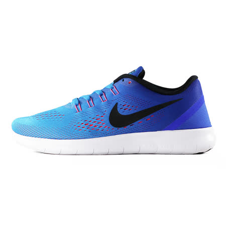 nike 女 WMNS NIKE FREE RN  慢跑鞋 藍 - 831509404
