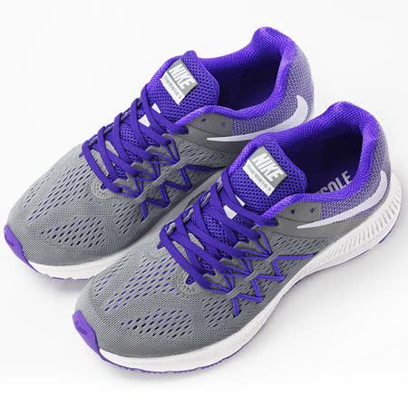 nike 女 WMNS NIKE ZOOM WINFLO 3  慢跑鞋 紫/灰 - 831562005