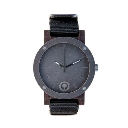 Plantwear 歐洲手工製實木手錶-Raw series-銀石-黑檀木(42mm)