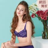 【曼黛瑪璉】包覆提托經典內衣 B-E罩杯(優雅紫)