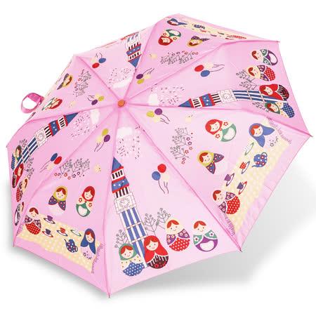 【rainstory】俄羅斯娃娃抗UV省力自動傘