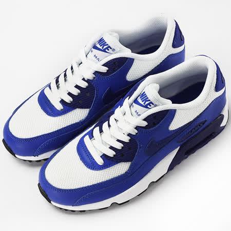 nike 女 AIR MAX 90 MESH BG  經典復古鞋 藍/白 - 833418105