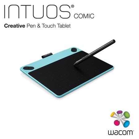 Wacom Intuos Comic 動漫創意觸控繪圖板-時尚藍(小)CTH-490