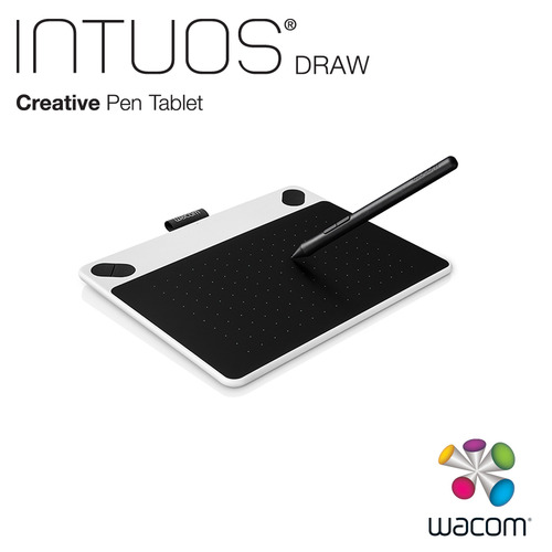 Wacom Intuos Draw 塗鴉創意繪圖板-簡約白(小)CTL-490