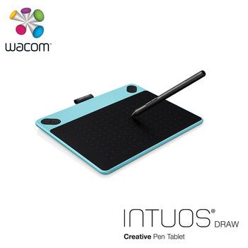 Wacom Intuos Draw 塗鴉創意繪圖板-時尚藍(小)CTL-490