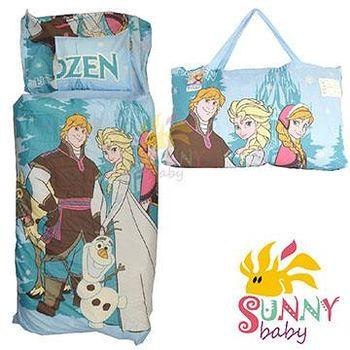1Sunnybaby 幼教兒童睡袋-冰雪奇緣-人物 (藍)
