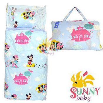 Sunnybaby 幼教兒童睡袋-米奇米妮幸福家園 (藍)