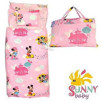 Sunnybaby 幼教兒童睡袋-米奇米妮幸福家園 (粉)