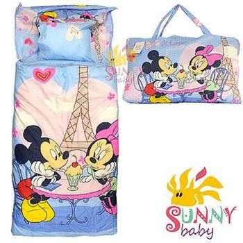 Sunnybaby 幼教兒童睡袋-米奇米妮甜蜜蜜 (藍)