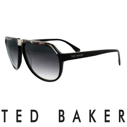 TED BAKER 倫敦 復古質感造型太陽眼鏡(黑) TB1239-001