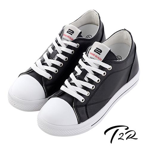 【韓國T2R】時尚高質感隱形增高帆布鞋 ↑7cm 黑(5600-0252)
